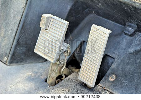 Brake and accelerator pedal for cars for runing poster