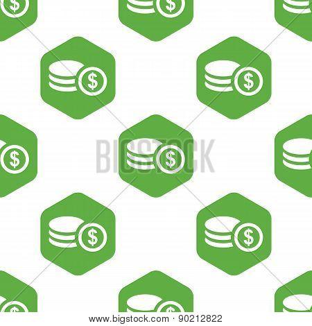 Dollar rouleau pattern