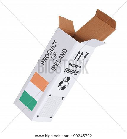 Concept Of Export - Product Of Ireland