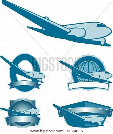 Vintage Plane Labels