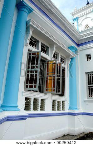 Window detail at The Sultan Ibrahim Jamek Mosque at Muar, Johor