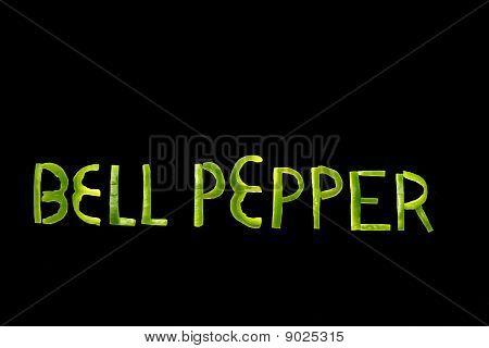 Spell Bell Pepper