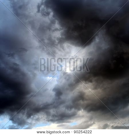 The Natural Dramatic Clouds Area for Background poster