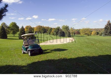 Golf Cart - Fairway - Sandtrap