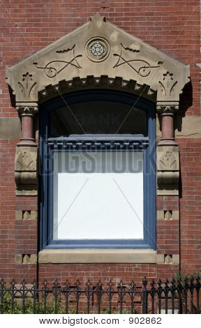 Blank Window On Brick Building