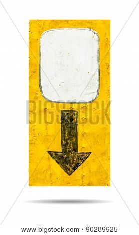 Sign Of Arrow Down Isolated On White Background