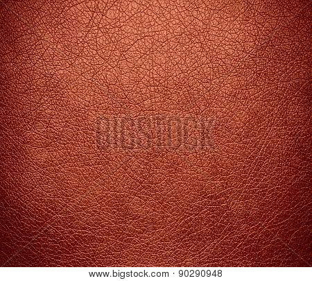 Copper red color leather texture background