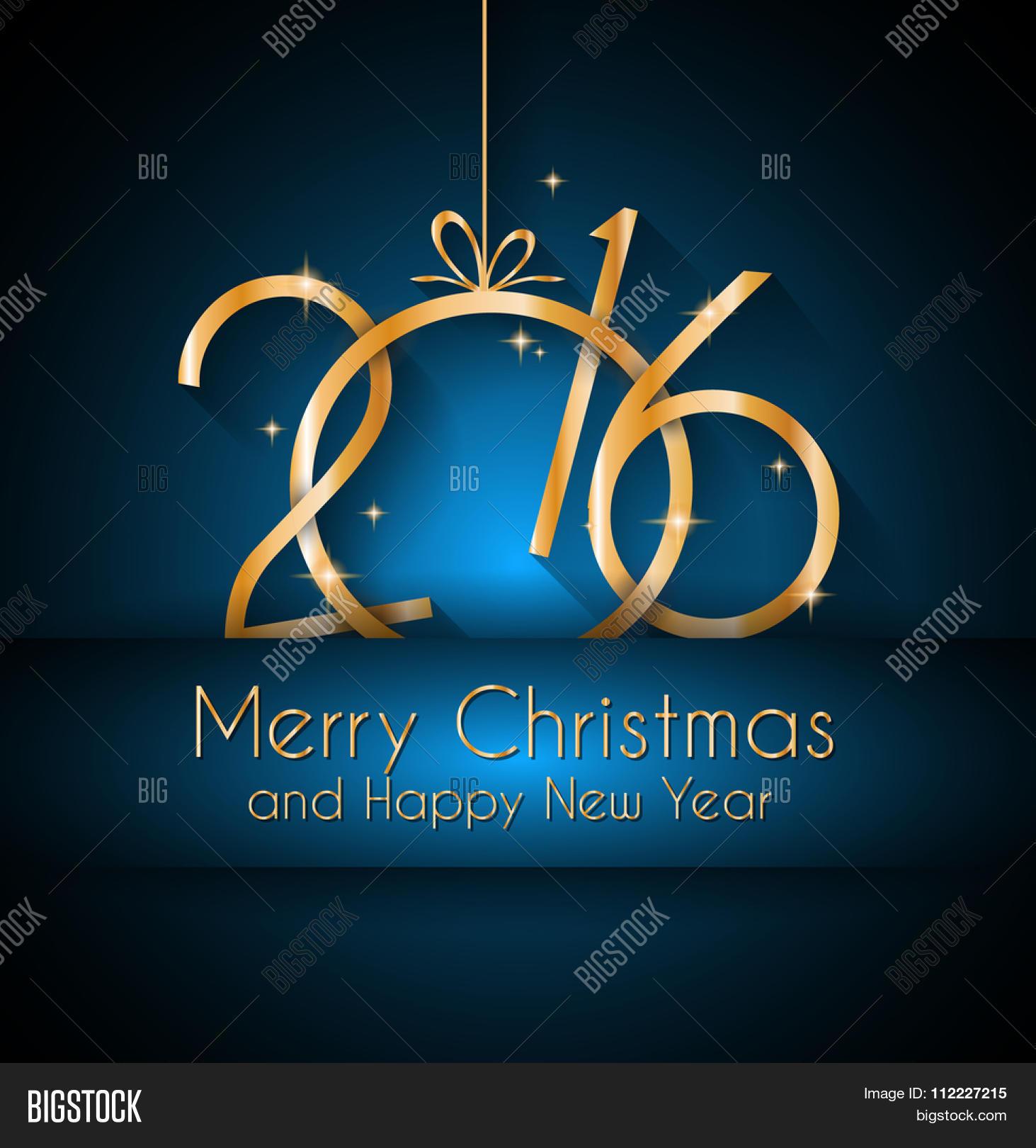 2016 Happy New Year Vector Photo Free Trial Bigstock