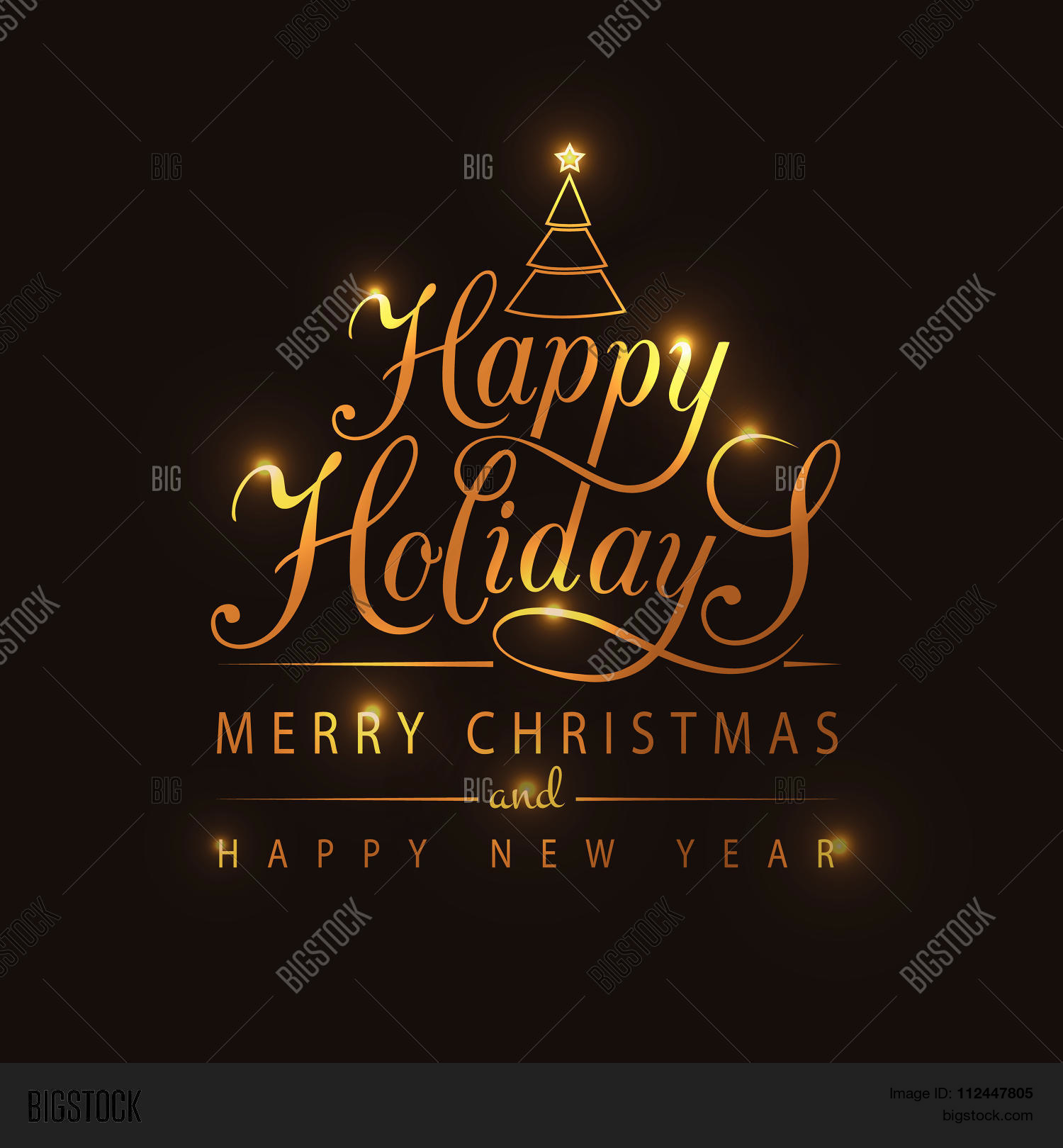 Happy holidays vector photo free trial bigstock happy holidays typography for christmasnew year greeting cardinvitation m4hsunfo