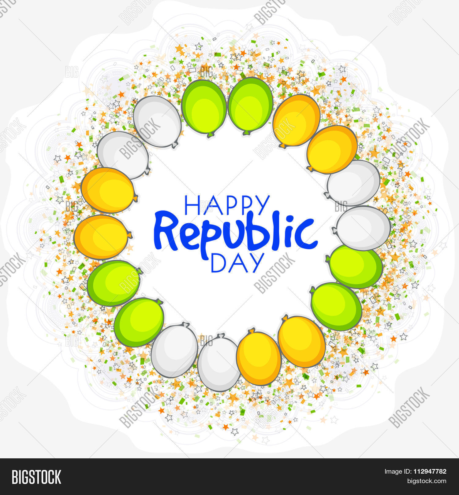 Elegant greeting card vector photo free trial bigstock elegant greeting card design decorated with tricolour balloons for happy indian republic day celebration m4hsunfo