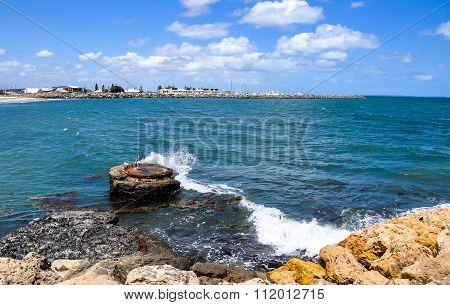 Waves Crashing Marine Buoy: Fremantle, Western Australia
