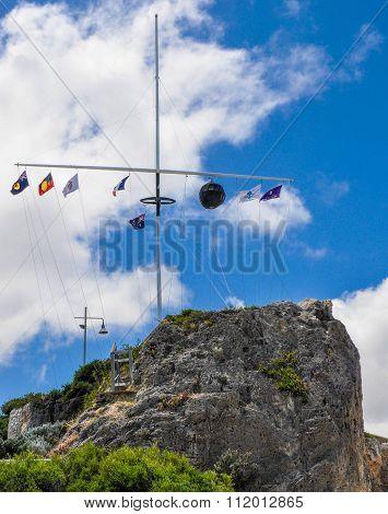 The Round House Flag Array on Arthur's Head: Fremantle, Western Australia