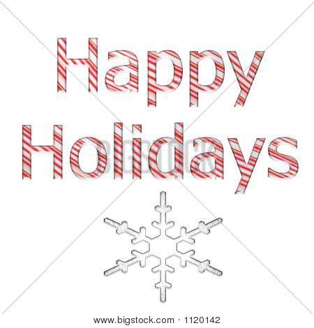 Candy Cane Happy Holidays