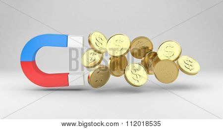 Magnet Draws The Coins