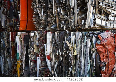 Compressed Scrap Aluminum Bales