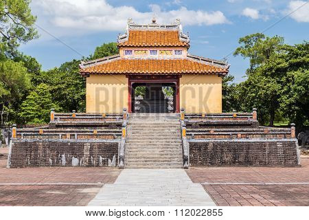 Pavilion In Imperial Minh Mang Tomb In Hue,  Vietnam