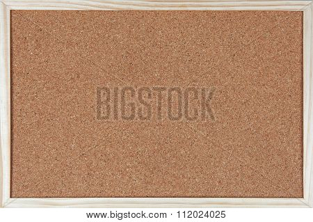 Empty Corkboard With A Wooden Frame