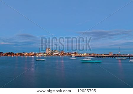View Of St. Kilda Suburb From The Pier