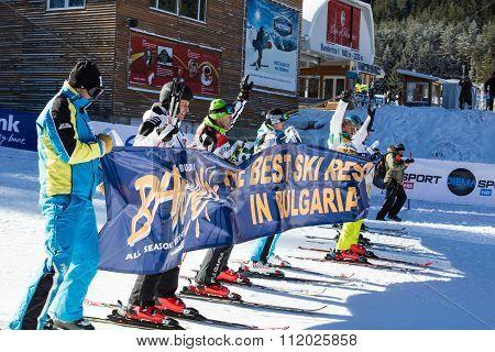 Open new ski season 2015-2016 in Bansko, Bulgaria. Marc Girardelli, Markus Wasmeier, Petar Popangelo