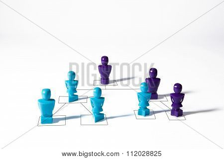 Concept Depicting Organizational Hierarchy Corporate Chart