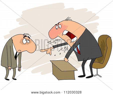 Director Yells At Employee