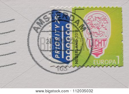 Dutch Mail Stamp About Ecology Issues