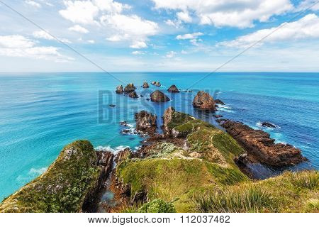 Rocks At Nugget Point, South Island, New Zealand