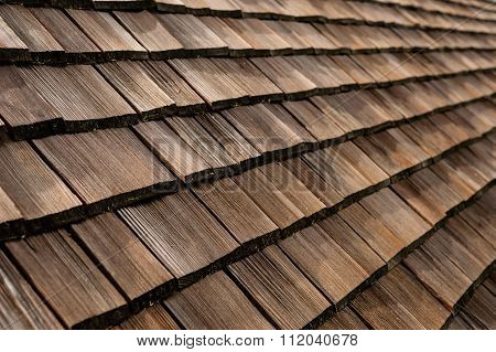 Roof Of An Old German Timber Building.
