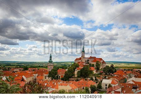 Castle of Mikulov in southern Moravia, Czech Republic