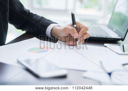Businessman Planning Startup Business Concept