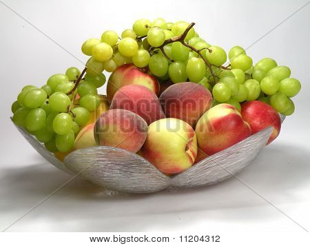 Peach And Green Grapes