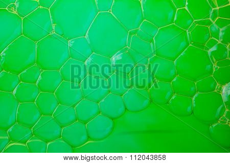 Soap Suds Extreme Closeup Creating Honeycomb Pattern