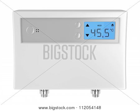 Automatic water heater isolated on white background poster