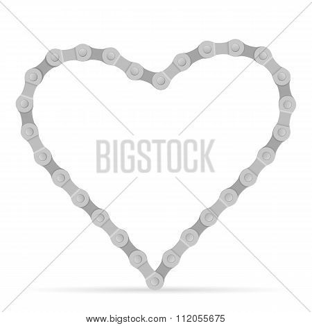 Bike Chain Heart
