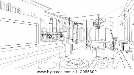Interior vector drawing.