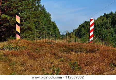 Polish border post on the border with Germany.