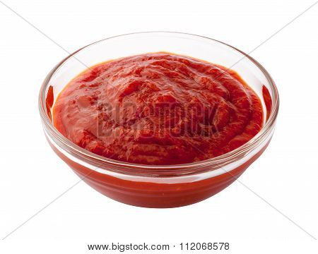 Cocktail Sauce In A Glass Bowl