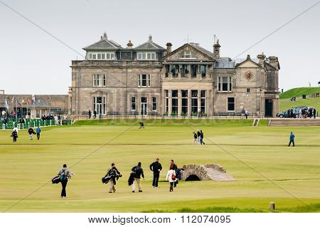 The 18th hole of the Old Course