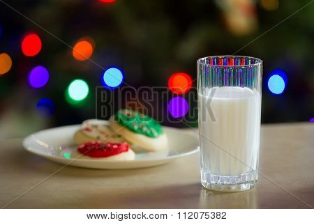 Glass Of Milk And Some Cookies
