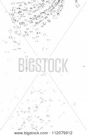 Abstract Splashes And Drops Of Water On A White Background.