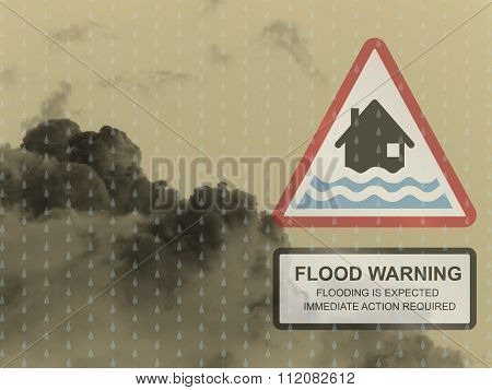 Red flood warning