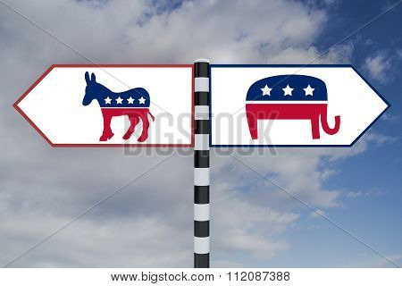Democrat Vs Republican Concept