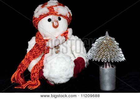 Russian New Year's Eve Snowman