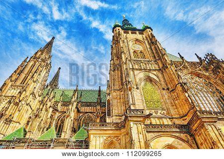 Metropolitan Cathedral Of Saints Vitus, Wenceslaus And Adalbert.roman Catholic Metropolitan Cathedra
