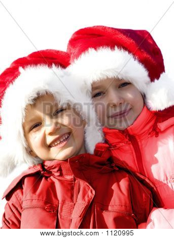 Two Young Santas