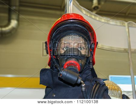 Female Mannequin In Protective Clothing For Rescuers