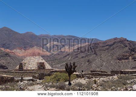 Pyramid at Pucara de Tilcara