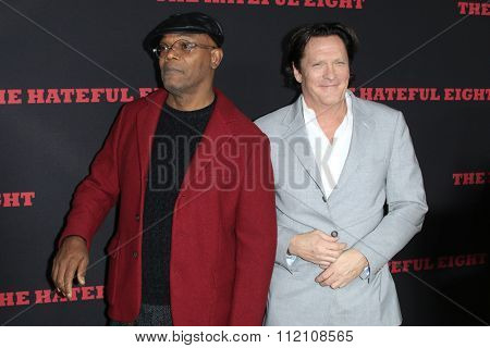 LOS ANGELES - DEC 7:  Samuel L. Jackson, Michael Madsen at the