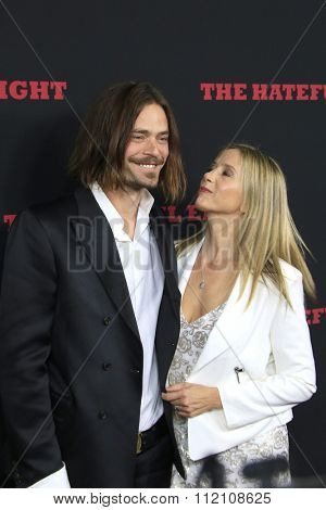 LOS ANGELES - DEC 7:  Christopher Backus, Mira Sorvino at the