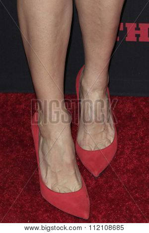 LOS ANGELES - DEC 7:  Laura Dern (shoe detail) at the